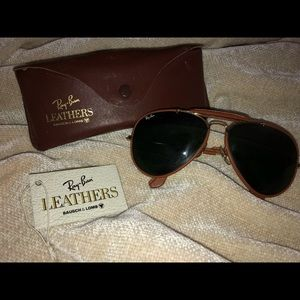 Vintage Leather Ray Bans